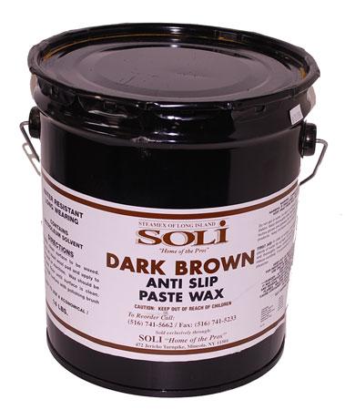 Dark Brown Solvent Anti-Slip Paste Wax
